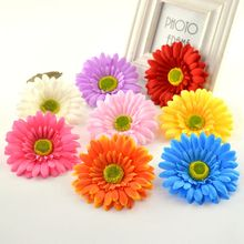 10pcs Artificial Gerbera Daisy Silk Flowers Heads For home Wedding car Party Decorative DIY Wreath material festival simulation(China)