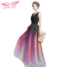 AnXin SH Gradient sexy princess prom dress black and red prom dress bridal gown prom dress 2673(China)