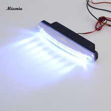 Miumiu Car Day Lights assembly 1pc 8 LED Super Bright Car DRL Daytime Running Light car lights accessories