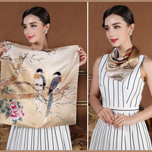 2016 spring 100% silk square Scarf for women Female girl ladies fashion baby children Scarves handbag hair ribbon 53*53CM