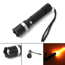 600Lm 3W Tactical SWAT Heavy Duty Rechargeable Flashlight Color Change use 3AAA or 18650 Battery(China)