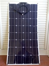 100w semi-flexible solar panel, internationally renowned brands, high conversion efficiency, free shipping(China)