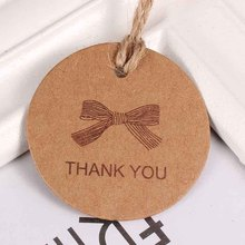 100Pcs Diy Kraft Paper Tags Labels Round Handmade Wrapping Rope Labels Gift Box Tags Labels Wedding Gift Hang Tag Kraft Gift 4Cm(China)