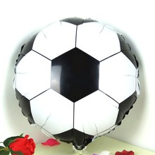 20pcs/lot 18 Inch Football Helium Foil Balloon Round Soccer Balloons Birthday Party Decorations Mylar Globos
