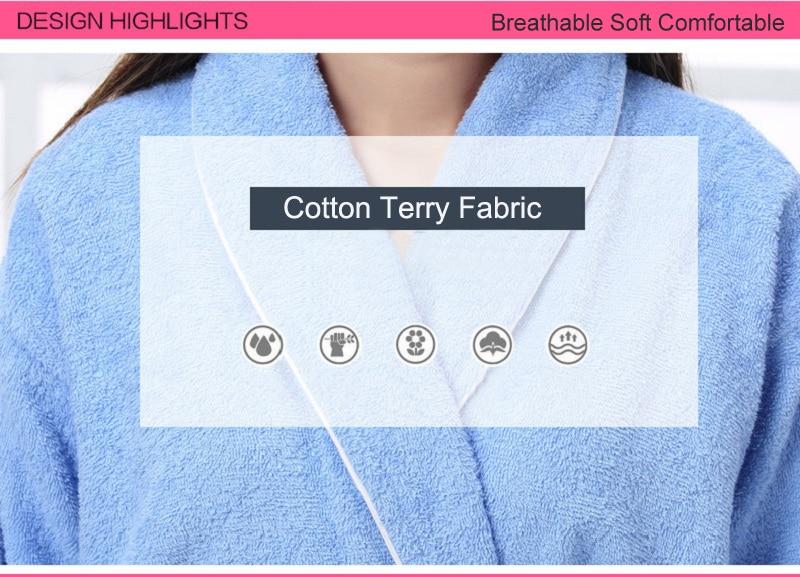 Detail Feedback Questions about Women Men Cotton Terry BathRobes all ... 051b15c3a