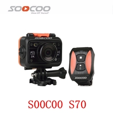 Original SOOCOO S70 2K Sports Action Camera 2K@30fps 60M Waterproof Build-in WIFI with Watch Remote Control Sport Mini DV Camera