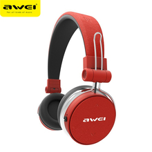 AWEI A700BL Bluetooth Headphones Wireless Stereo Super Deep Wireless Headset Subwoofer With Touch Button PU Earmuffs Headband(China)