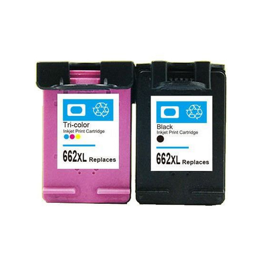 2PC For HP 662 662xl Ink Cartridge For HP Deskjet 1015 1515 2515 2545 2645 3515 3545 4645 Printer ink for hp662 xl<br><br>Aliexpress