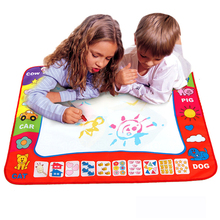 2017 Real Aquadoodle Water Magic Canvas Painting Drawing Toys Baby Writing Learning For Graffiti Colorful Board Children Puzzle(China)