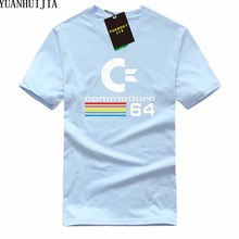 Commodore 64 Male Plus Size T shirt Homme Summer Short Sleeve T Shirts Brand Men's Tee Shirts Man Clothes Fashion casual