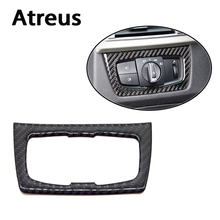Atreus For BMW F30 F35 Accessories 3Series GT 320i Car Styling Carbon Fiber Headlight Adjust Switch Interior Car Stickers(China)