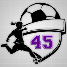 Soccer Girl Player Wall Decal Football Player Girl Custom Number Girls Room Decoration Decals Wall Sticker 22x23inch