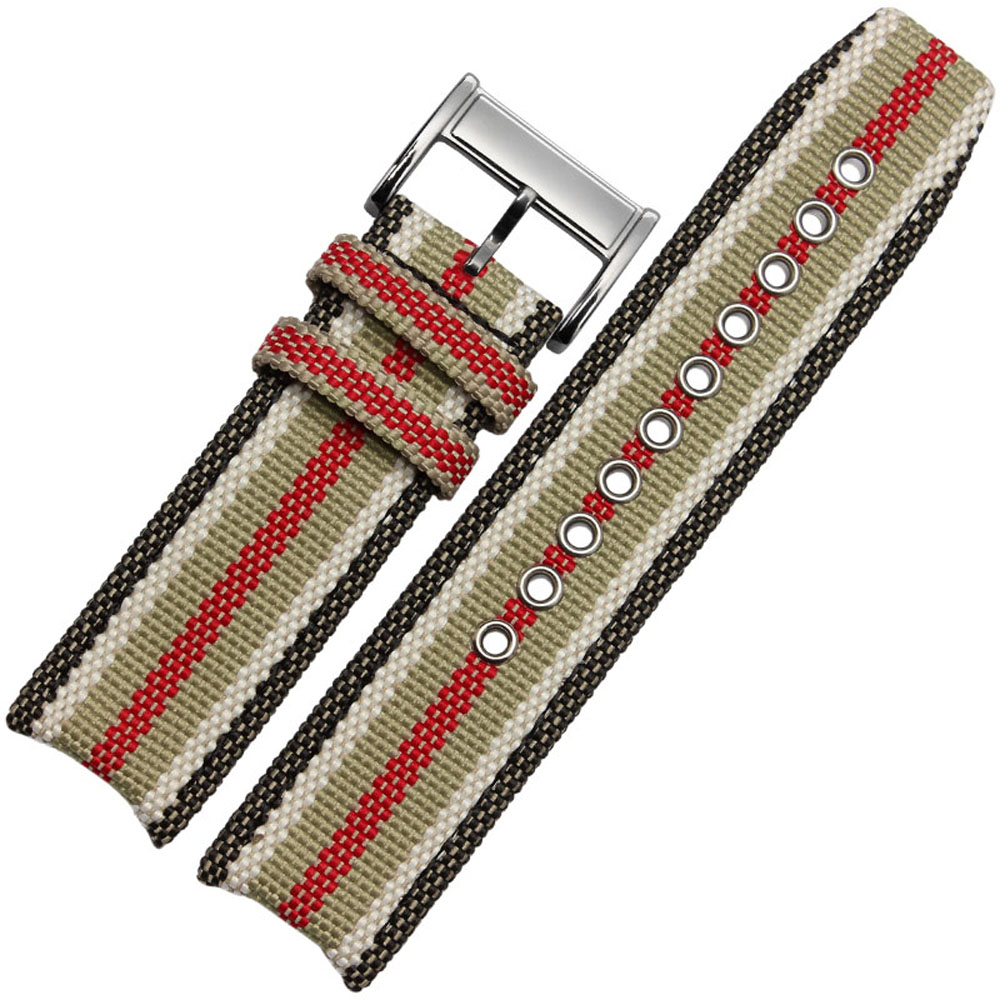 NL02 22mm Watchband High Quality Hot Sale Fashion Nylon Watch Strap Band Suitable For Burberry Watches Free Shipping<br>
