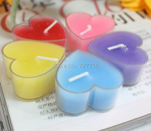 Birthday Candles Romance Heart Shaped Candle Love Wedding Party Home Candle Night wax Beautiful Christmas New Year Decor(China)