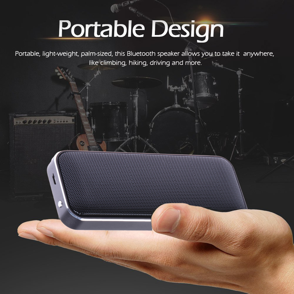 BT202 Wireless Portable Speaker Super Thin Outdoor Bluetooth Speaker Play Stereo Music with Smart phone/ Answer Phone L3EF(China (Mainland))