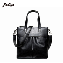 PU Leather Messenger Bags Casual Briefcase Business Shoulder Bag Computer Laptop Handbag Bag Formal Professional Business Bags(China)