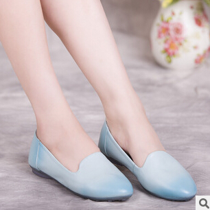 Comfortable!!! New arrival spring 2017  genuine leather women flats shoes Leisure summer shoes creepers 3 colors size 35-42 #<br>