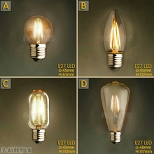 Buy 2pcs Lampada Edison Bulb Light Retro Lamp Bombilla Vintage Lamp Ampoules Decoratives 4W E27 220V C35 ST48/T45 G45 for $8.98 in AliExpress store