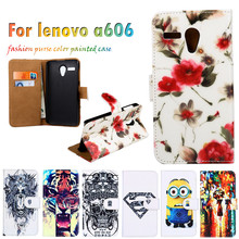 Durable Hot Selling Painted Leather Covers For Lenovo A606 5.5 Inch Cases Mobile Phone Skin Sheaths Flip Holster Cell Phone Bags