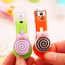 Baby Nail Care Tools Clipper Trimmer Cutter Scissors Candy Color Rainbow Cute Cartoon Style