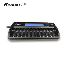 Quality Warranty Super Quick 12 Slot Intelligent LCD Display Fast Charger Smart Rechargable cells batteries Charger 12Bay