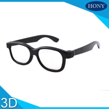 1pcs PL0001CP black frame Passive 3D Glasses for RealD 3D Cinemas and LG FPR Passive 3D TV Circular Plastic Polarized 3D Glasses