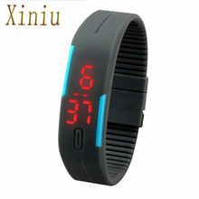 7 Colors Men's Watch Ultra Thin Men's Watches Sports Silicone Digital LED Sports Wrist Watch Wristwatches Clock Relogio Feminino