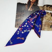 55x55cm Spring Fabulous Print 100% Pure Silk Scarf ,Women Ladies Small Square Silk Twill Scarves Wraps Necktie Handbag Scarf