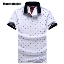 New Brand Polos Mens Printed POLO Shirts 100% Cotton Short Sleeve Camisas Polo Casual Stand Collar Male Polo Shirt 4XL EDA234(China)