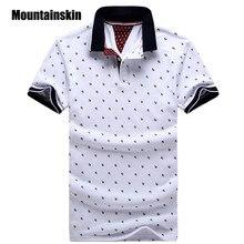 f5ad128c5ad749 Neue Marke Polos Herren Gedruckt POLO-Shirts Baumwolle Kurzarm Camisas Polo  Casual Stehkragen Männlichen Polo