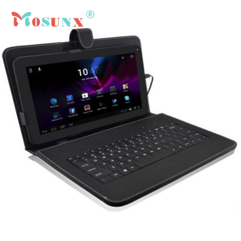 Hot selling Mosunx Gifts 10.1 Inch Leather Case Cover USB Keyboard Stand for Android Tablet PC<br><br>Aliexpress