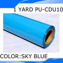 PU Heat Transfer Film and Heat Transfer Thermo Film For Garment 50x100cm in CDU10 Blue Color