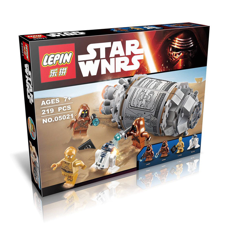 2017 New LEPIN 05021 219Pcs Star Wars The Force Awakens Droid Escape Pod Model Building Kit Blocks Bricks Toy Compatible Gift<br><br>Aliexpress