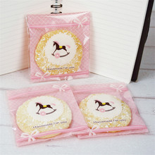 200Pcs 10x11cm Cute Cartoon Hobbyhorse Baking Package Cake Packing Bags Cookies Biscuits Candy Valve OPP Bag