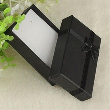 16pcs/lot Square Black Paper Gift Box Present Case For Ring Jewelry Bracelet Necklace ES4568 makeup organizer(China)