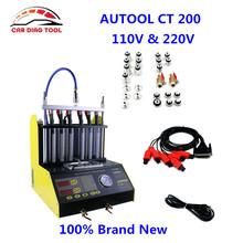 AUTOOL CT200 gasonline Car Motorcycle Auto Ultrasonic Fuel Injector Cleaning Tester machine Better Than Launch CNC602A