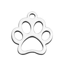 Buy Fnixtar Never Fade Stainless Steel Pendant Charms Women Bracelet Jewelry Making High Animal Paw Charms 20pcs/lot for $4.98 in AliExpress store