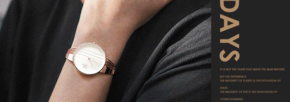 ساعة اليد سوار كوارتز  مطلية بالذهب 3