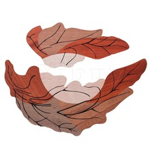 Yibuy 1 Pair Leaf Design Acoustic Guitar Wood Pickguard(China)