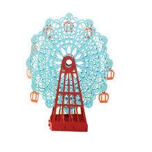 1pc Blue Papercraft Pop-Up 3D Ferris Wheel Valentine Cards May Love Goes Round And Round for Wedding Party Decor Gift 15*15 CM