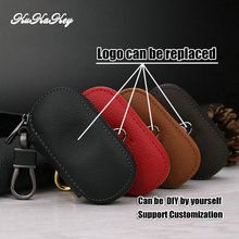 Auto Key Bag Case Car Logo Key Holder For Cadillac CTS Escalade SRX ATS STS Genuine Leather Key Cover Wallet With Logo Keychain