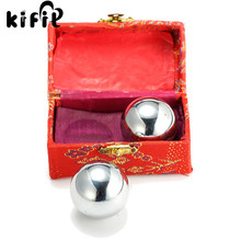 KIFIT Practical 2 Chinese Baoding Balls Fitness Handball Health Exercise Stress Relaxation Therapy Chrome Hand Massage Ball 38mm
