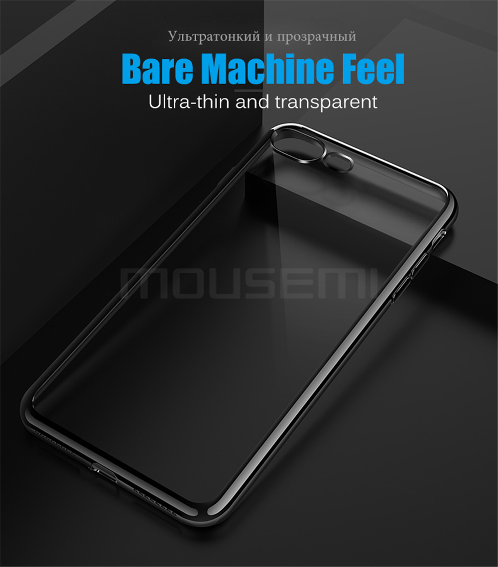 MOUSEMI Phone Cases For iPhone 7 Case Transparent Silicone Plating Soft Cover For iPhone 7 Plus Case For iPhone 77 Plus (3)