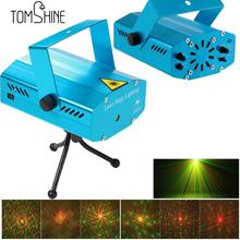 Tomshine Mini LED Laser Projector Stage Light Christmas Laser Lights Dj Equipment KTV Party Club Disco Pub Bar School Show Decor(China)