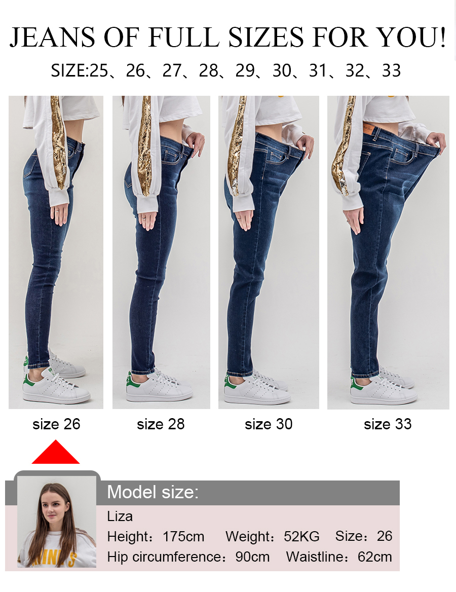 luckinyoyo jean jeans for women with high waist pants for women plus up large size skinny jeans woman 5xl denim modis streetwear 3