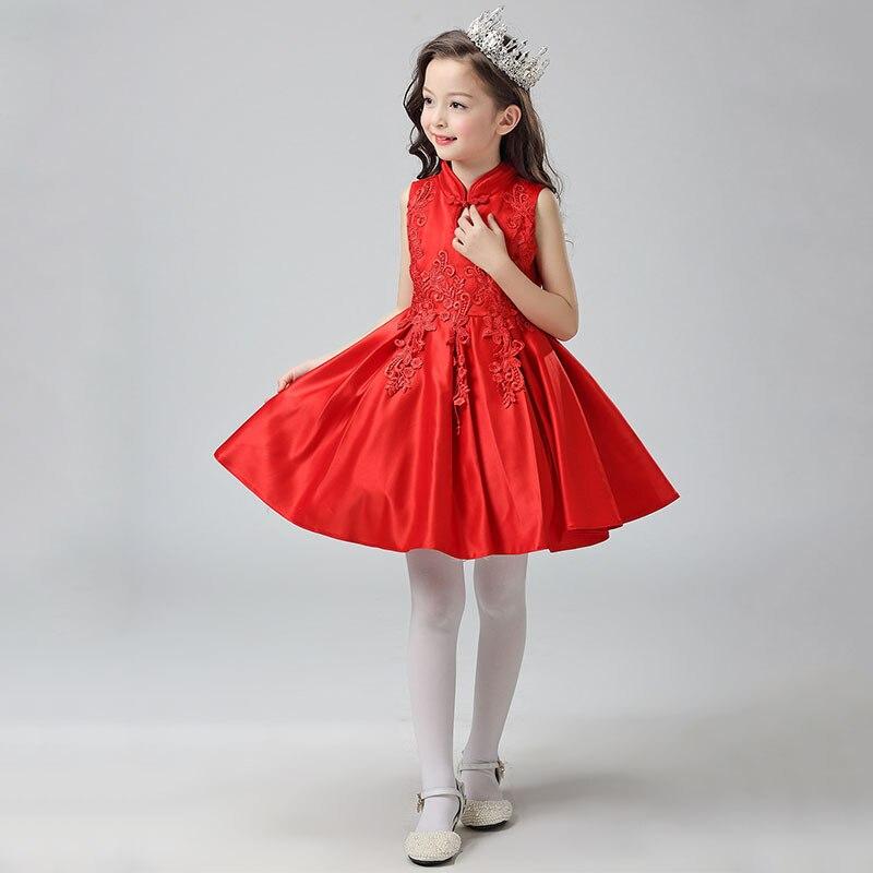 Retail 2pcs dress+cape Brand New Design Autumn Winter Girls Formal Party/ Wedding/Performance/Host Floral Satin Dress Age 5-16Y<br>