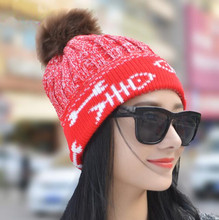Unisex/ Women's  Spring Winter Hats Beanies Knitted Cap Crochet Hat Fur Pompons Ear Protect Casual Cap in Cartoon Pattern