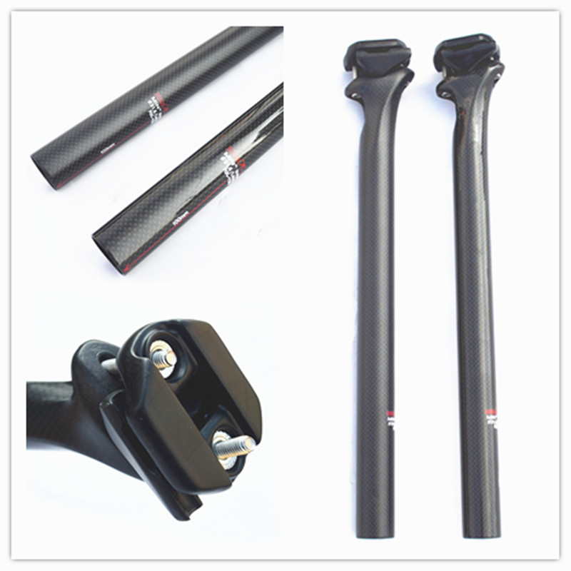 cycling seatpost full carbon seatpost mtb road bike seatpost bicycle parts rod 3k finish only 190g  27.2/30.8/31.6*400mm <br>