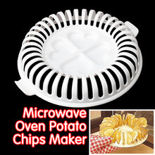 High Quality DIY Low Calories Microwave Oven Fat Free Potato Chips Maker Baking & Pastry Tools Potato Slicer Kitchen Tools