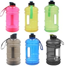 1PC BPA Free Sport Bottle 2.2L Big Sport Gym Training Drink Water Bottle Large Capacity Kettle For Outdoor Picnic Bicycle Jug(China)